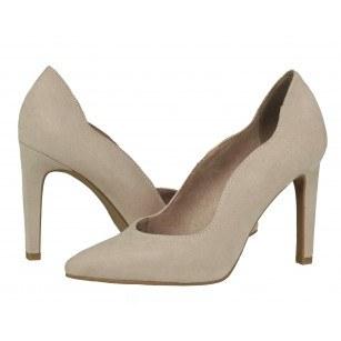 Дамски елегантни обувки на ток Marco Tozzi бежови