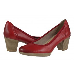 Дамски елегантни обувки Marco Tozzi мемори пяна ANTISHOKK червени