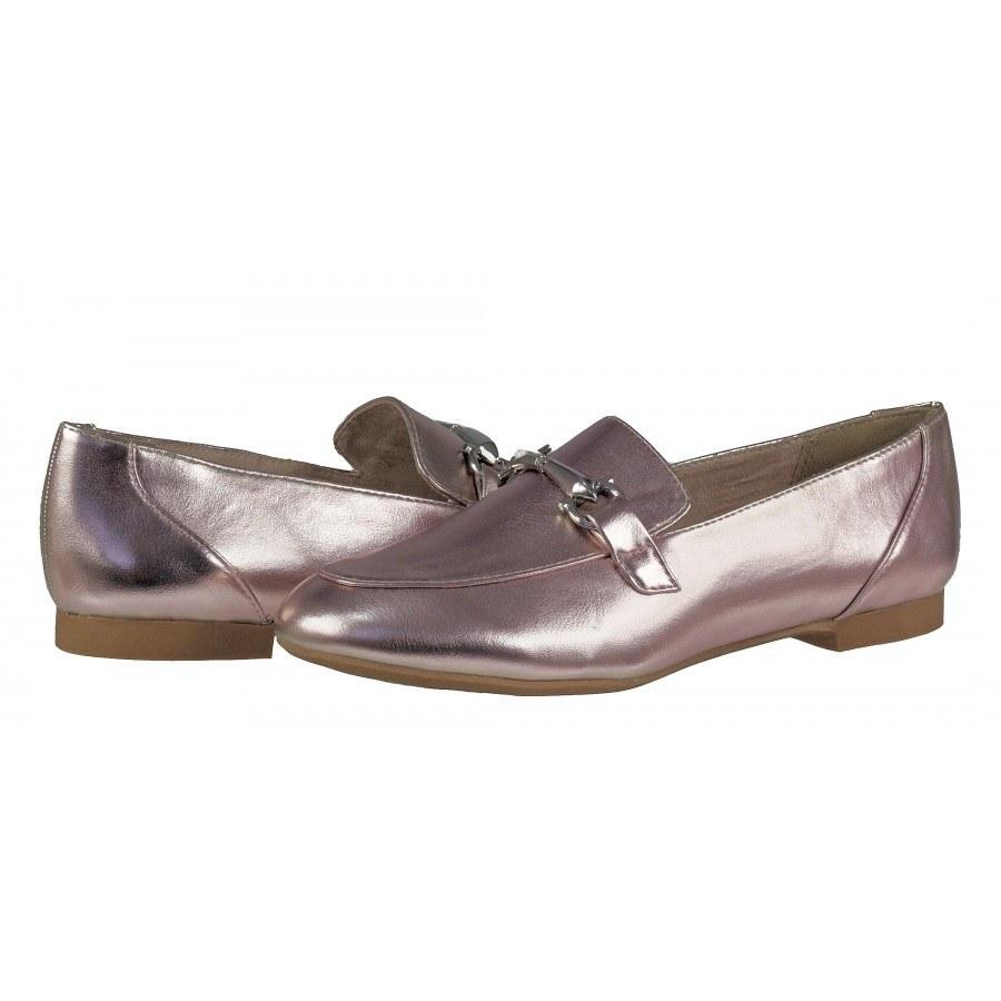 Дамски равни обувки Marco Tozzi мемори пяна розов металик