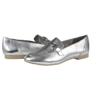 Дамски равни обувки Marco Tozzi мемори пяна сребристи