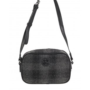 Дамска малка чанта през тяло Marina Galanti® Firenze черна/сива