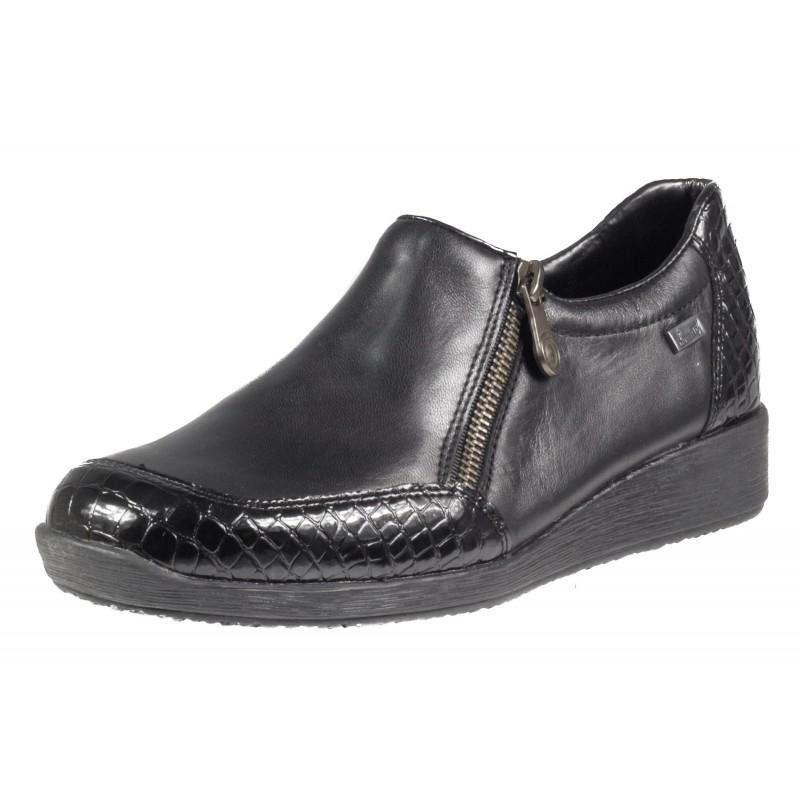 Дамски ежедневни обувки Rieker ANTISTRESS естествена кожа черни 44094-00