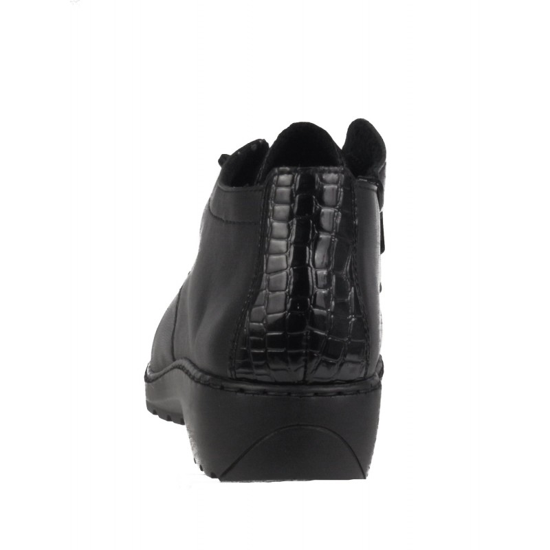 Дамски ежедневни обувки Rieker ANTISTRESS естестена кожа черни 6040-00