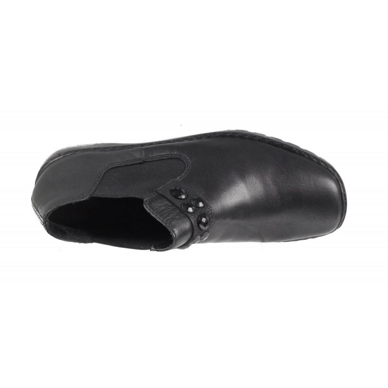 Дамски ежедневни обувки Rieker ANTISTRESS естествена кожа черни L6080-00