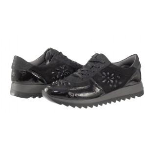 Дамски спортни обувки от естествена кожа Salamander черни