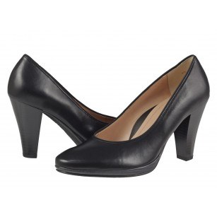 Дамски елегантни обувки на ток Salamander естествена кожа черни