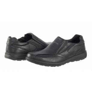 Мъжки кожени обувки Salamander черни 4000201