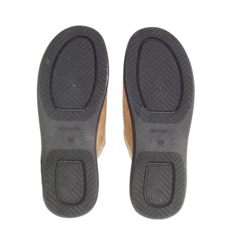 Дамски домашни чехли Spesita бежови