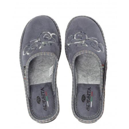 Дамски анатомични домашни чехли Spesita сиви