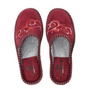 Дамски анатомични домашни чехли Spesita бордо