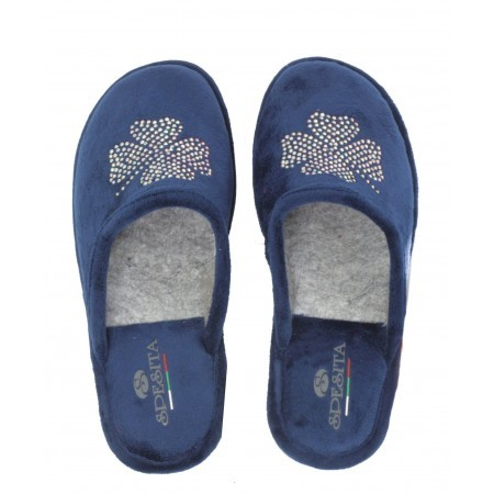 Дамски анатомични домашни чехли Spesita сини