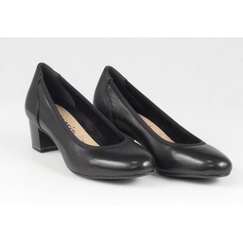 Дамски обувки на ток Tamaris черни ANTISLIDE ANTISHOKK®