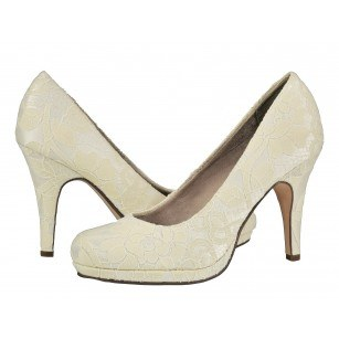Дамски елегантни обувки с дантела Tamaris макраме