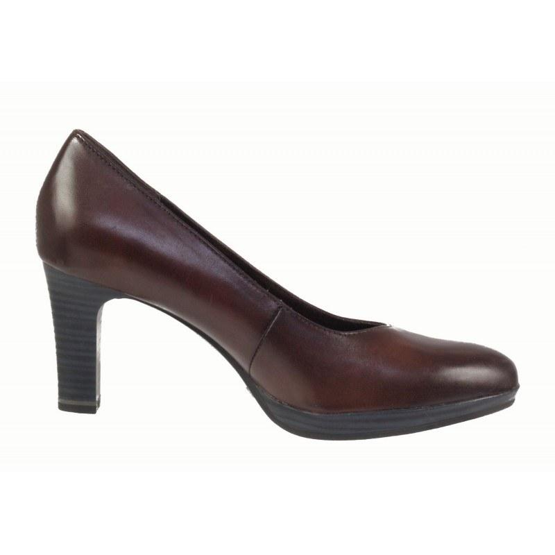 Дамски обувки на ток Tamaris кафяви ANTISHOKK ANTISLIDE мемори пяна