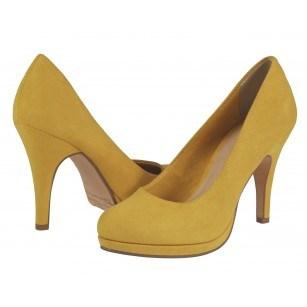 Дамски елегантни обувки на ток Tamaris жълти
