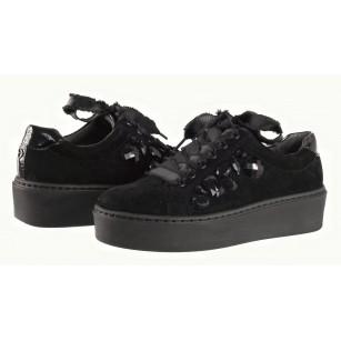 Дамски спортни обувки на платформа Tamaris черни мемори пяна