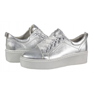 Дамски спортни обувки на платформа Tamaris сребристи мемори пяна