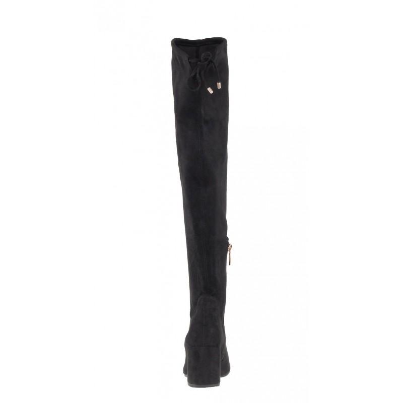 Елегантни дамски чизми на ток Tamaris черни Marcel —x— Ostertag
