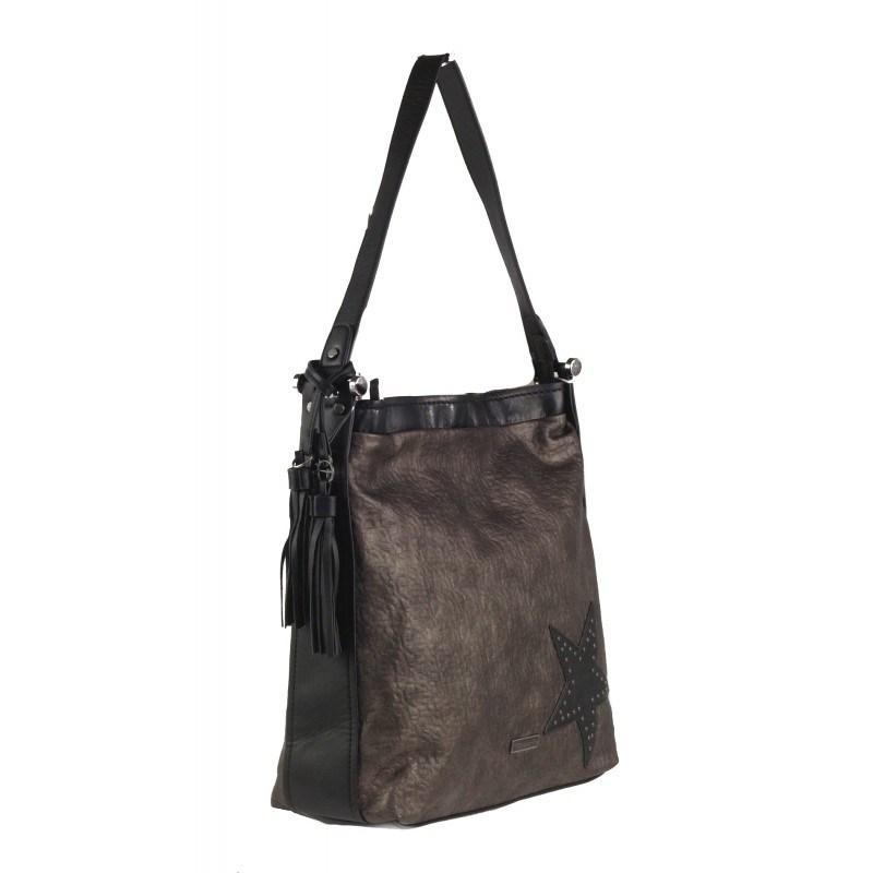 Дамска голяма чанта Tamaris металик