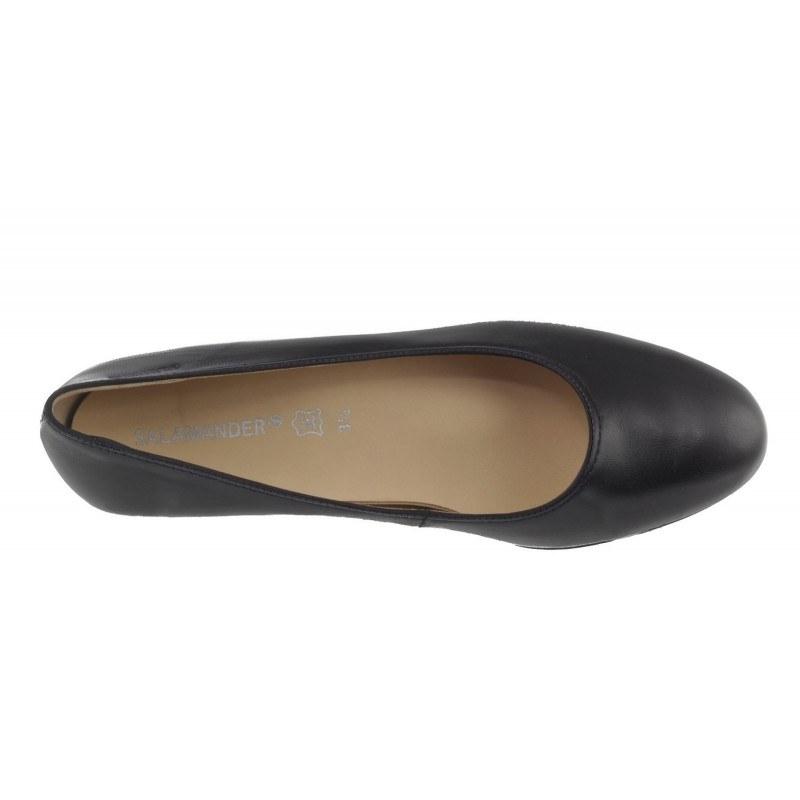 Дамски елегантни обувки на нисък ток Salamander естествена кожа черни