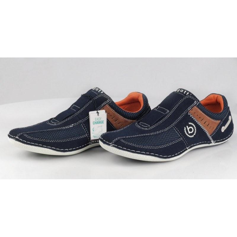 Мъжки спортни обувки без връзки Bugatti Soft Flex сини