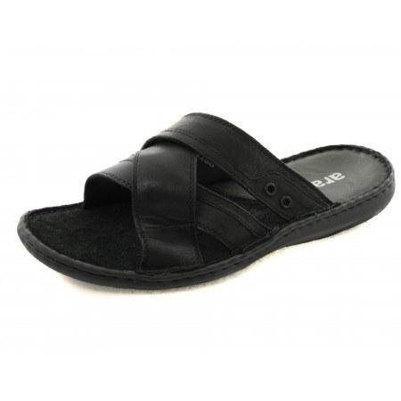 Мъжки чехли от естествена кожа Ara черни