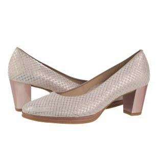 Дамски елегантни обувки на ток Ara естествена кожа розови