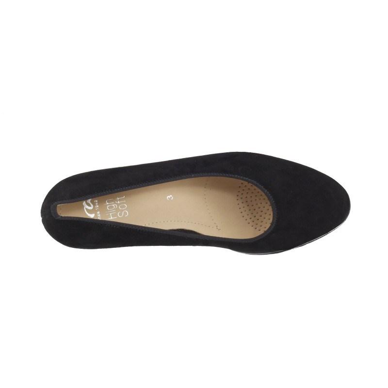 Дамски елегантни обувки на ток Ara естествена кожа черни