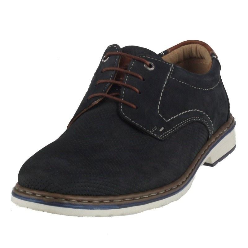 Мъжки обувки от естествена кожа Ara сини