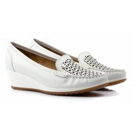 Дамски ежедневни обувки на платформа Ara бели