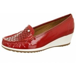 Дамски ежедневни обувки на платформа Ara червени