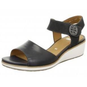 Дамски сандали на платформа Ara естествена кожа сини
