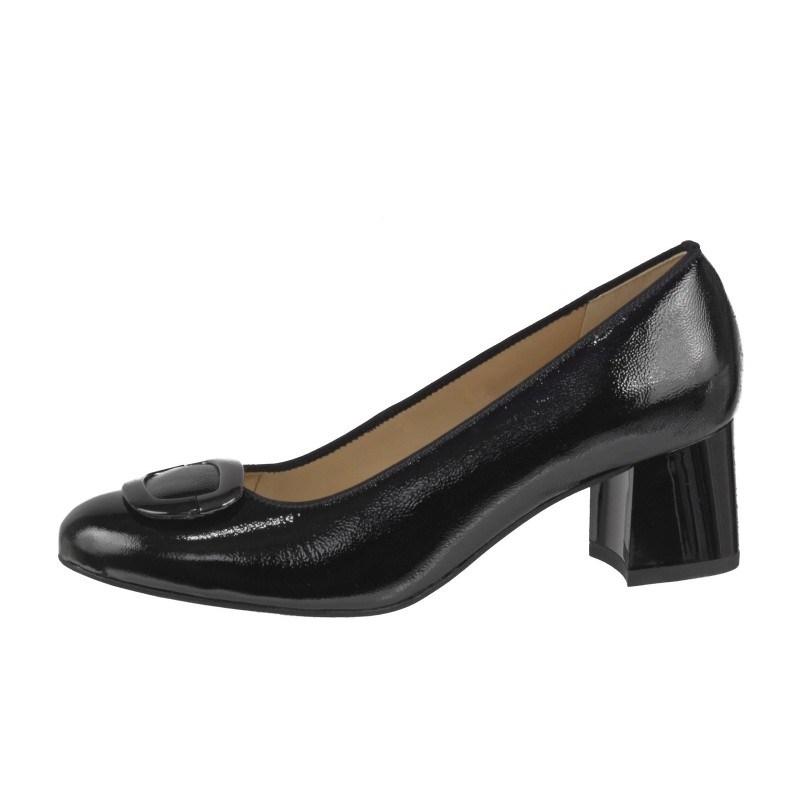 Дамски елегантни обувки от естествена кожа на среден ток Ara черни