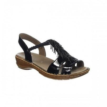 Дамски анатомични сандали Ara черен лак