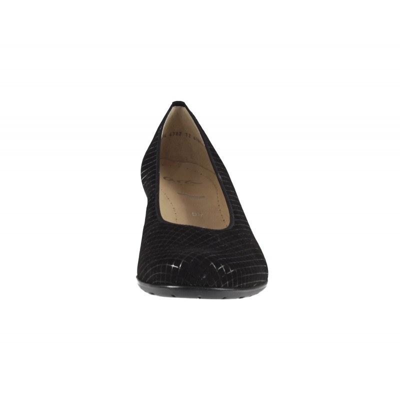 Дамски елегантни обувки Ara естествена кожа черни ширина К