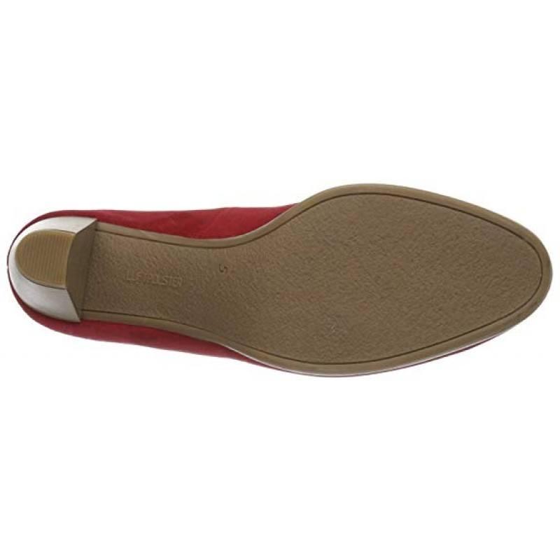 Дамски обувки на ток Ara естествен велур червени
