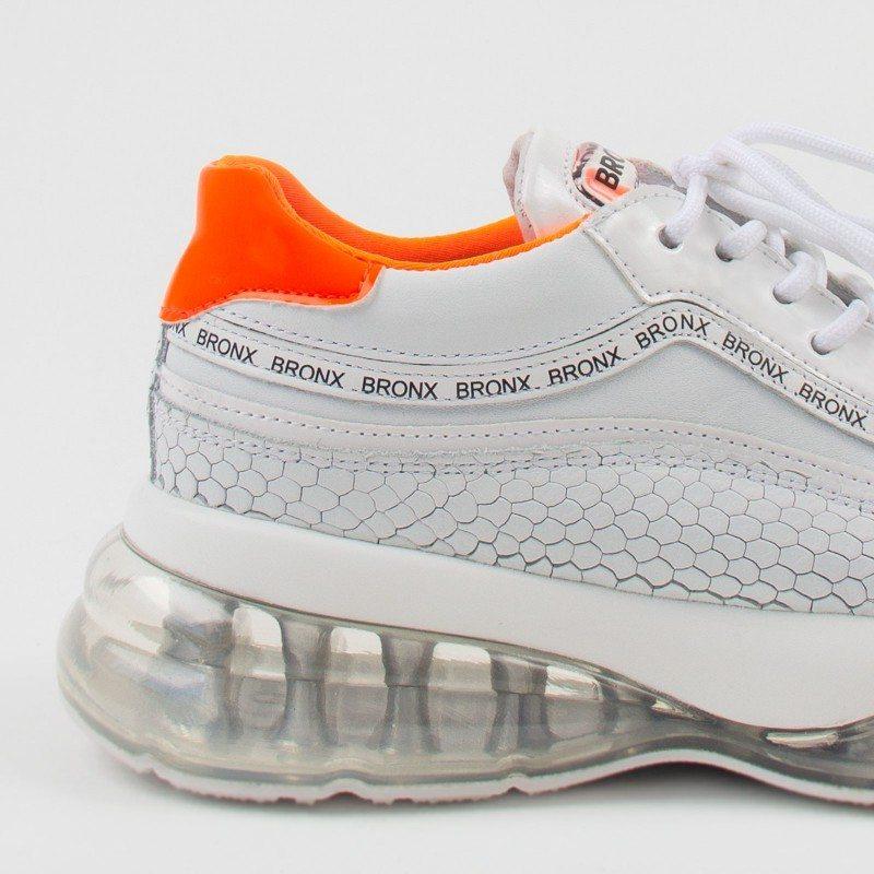 Дамски спортни обувки естествена кожа Bronx Bubbly бели