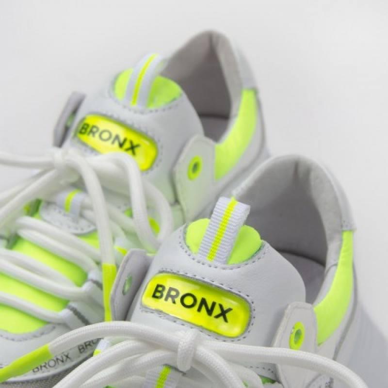 Дамски спортни обувки естествена кожа Bronx Grayson бели