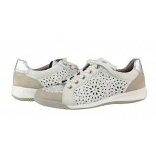 Дамски спортни обувки от естествена кожа Ara бели