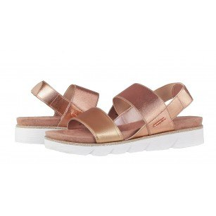 Дамски равни сандали с ластик Bugatti розови