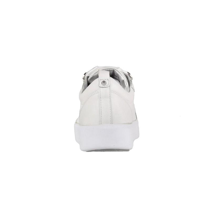 Дамски спортни обувки от естествен набук Bugatti Kelli бели