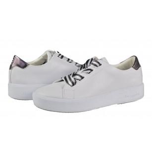 Дамски спортни обувки с връзки Bugatti бели/сиви