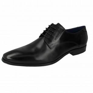 Мъжки кожени обувки с връзки Bugatti® Morino черни