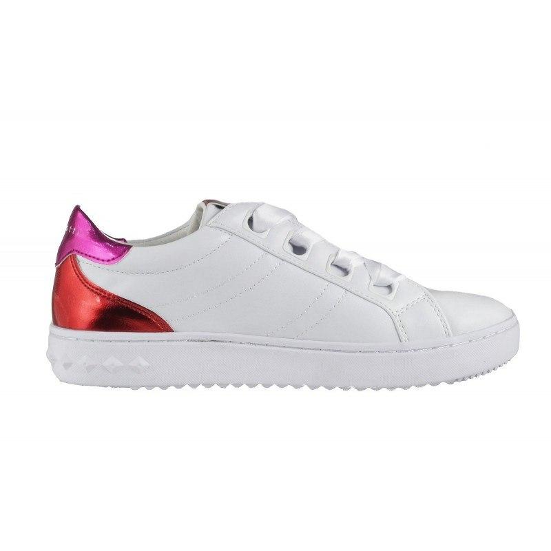 Дамски спортни обувки с връзки Bugatti бели/розови
