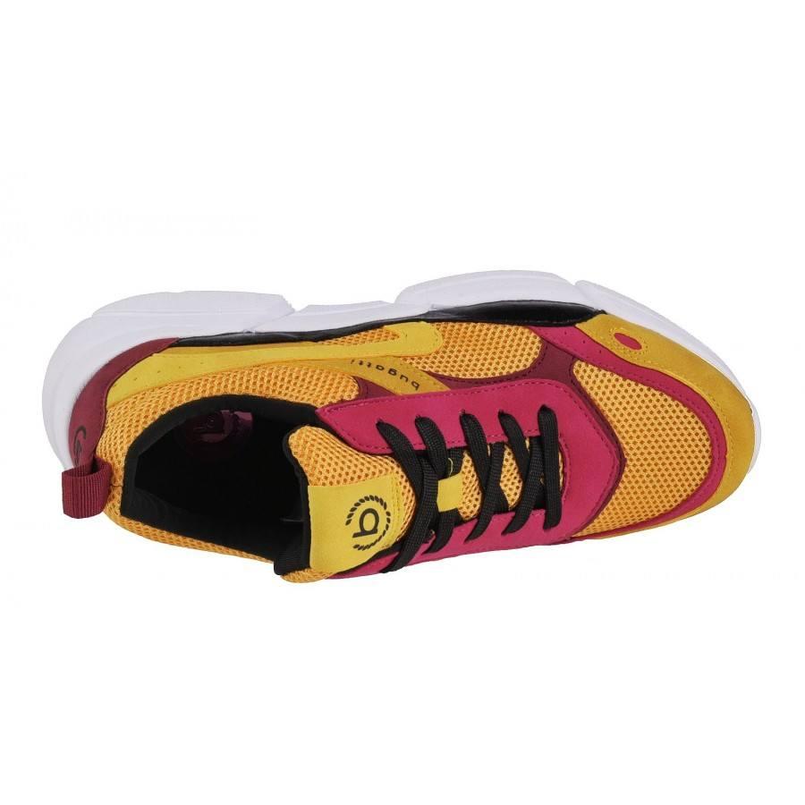 726fe49f1cf ... Дамски спортни обувки с връзки Bugatti Shiggy жълти ...