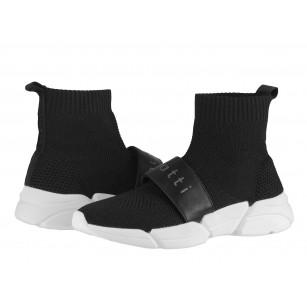 Дамски спортни обувки тип чорап Bugatti Shiggy черни