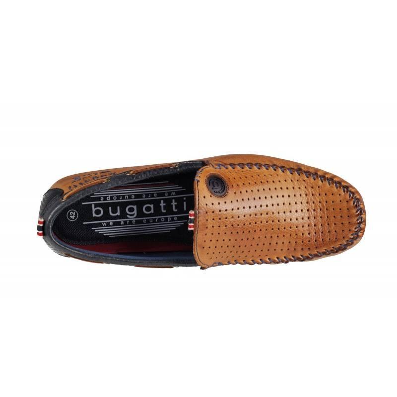 Мъжки мокасини Bugatti естествена кожа кафяви Cherokee