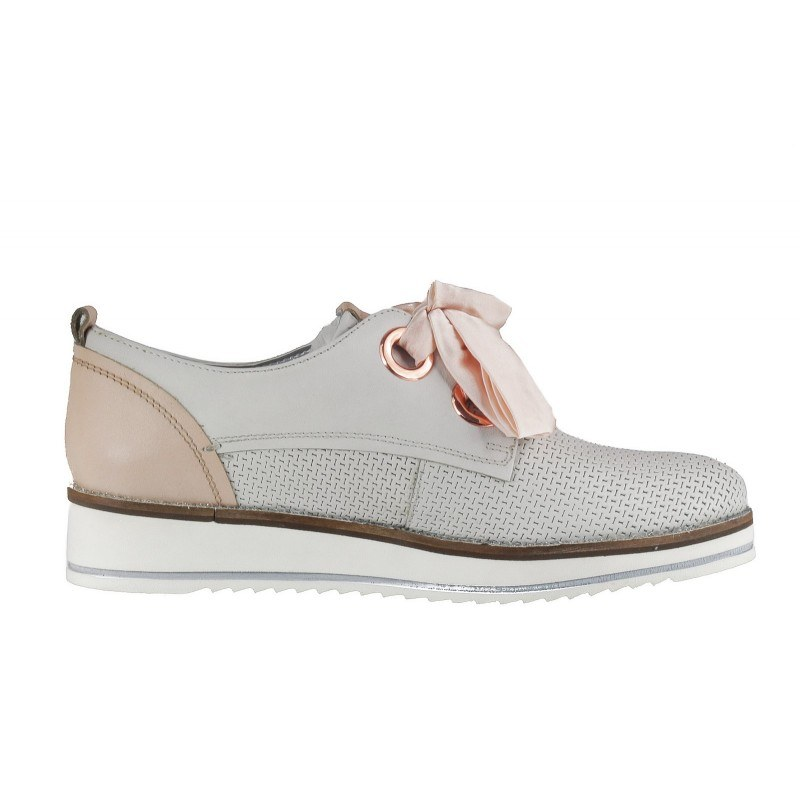 Дамски спортни обувки с връзки Bugatti Darla Evo бели