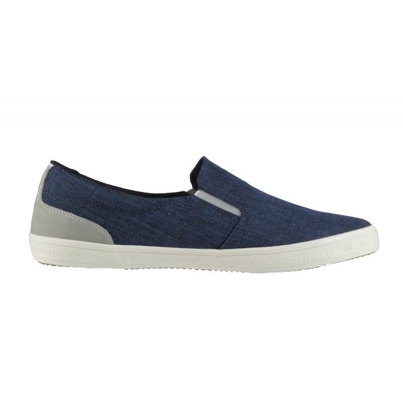 Мъжки спортни обувки без връзки Bugatti® ALFBA тъмно сини