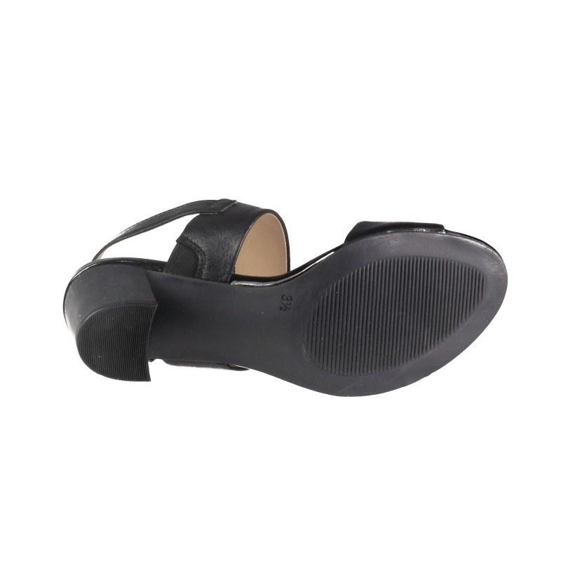 Елегантни дамски сандали от естествена кожа на нисък ток Caprice черни